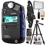 Sekonic L-308X-U Flashmate Light Meter with 160 LED Video Light, Xpix Professional Camera Strap, Platinum Bundle