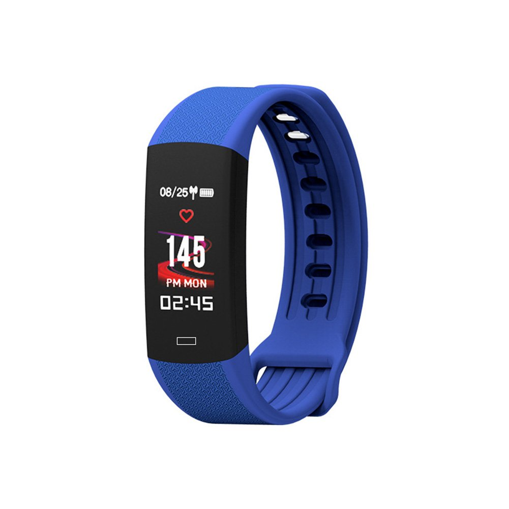 yodaliy Fitness Tracker, Heart Rate Monitor Activity Tracker Connected GPS Tracker, Step Counter, Sleep Monitor, IP67 Waterproof Watch Android iOS Smartphone (Blue)