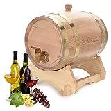 Oak Barrel, Wooden Wine Barrel, Vintage Timber Wine Barrel for Beer Whiskey Rum Bourbon Tequila 3L/5L/10L (5L)