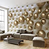 LWCX Modern Minimalist Stereo Spherical Metal Photo Mural Soft Background Wall Paper Custom 3D Wallpaper Silk Fabric Material 180x120CM