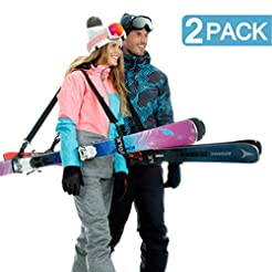 Volk Ski Strap and Pole Carrier 2 Pack -...