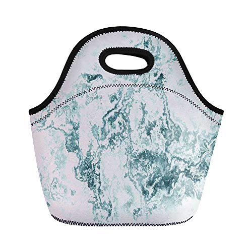 - Marble Durable Lunch Bag,Cloudy Layered Colors Ceramic Style Motif of Forms Lines Spotless Design Decorative for School Office,11.0