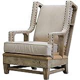 Uttermost 23615 Schafer Linen Armchair