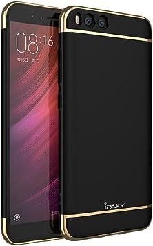 Funda Xiaomi MI6 , Ipaky Marco Electroplate Protector Xiaomi MI6 Marco Bumper Carcasa Xiaomi MI6 Ultra Slim Cover Case Negro: Amazon.es: Electrónica