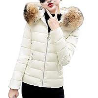 beautyjourney Giacca Donna Elegante Corta Piumino Invernale Giubbotto Donna Invernale Taglie Forti Giacche Donna Autunno Inverno Donna Pelliccia Cappuccio Lungo Cotone Cappotto Donna