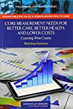 img - for Core Measurement Needs for Better Care, Better Health, and Lower Costs:: Counting What Counts: Workshop Summary (The Learning Health System Series) 1st Edition by Roundtable on Value & Science-Driven Health Care, Institute (2013) Paperback book / textbook / text book