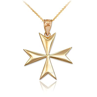 necklace diamond gold pendant cross white maltese
