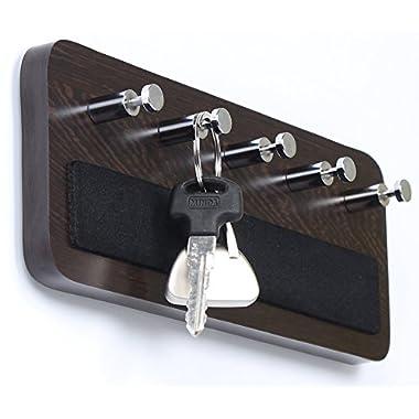 Bluewud Skywood Wall Mounted Key Holder / Key Rack Hooks (Wenge, 5 Keys, Big)