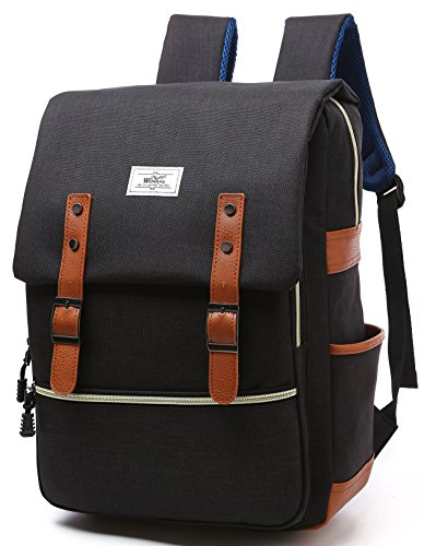 (Vintage Business Laptop Backpack Casual Daypacks Outdoor Sports Bag For Boys Girls Men Women,College Student School Bookbag Water Resistant Travelling Backpack Fits 15.6