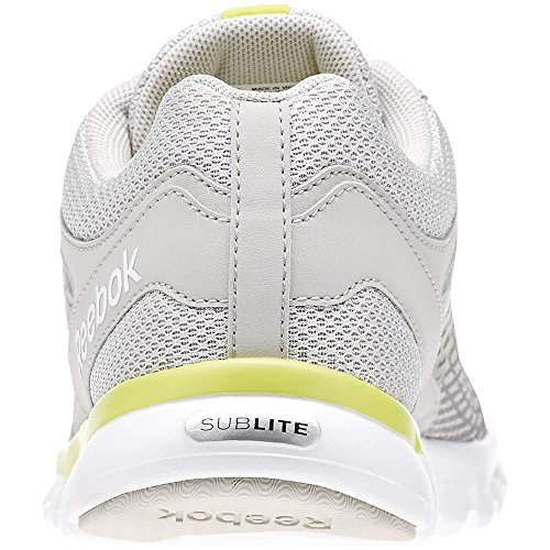 Reebok 3 Sublite Gris grey yellow 0 Escape Steel Chaussures white Femme Running pt0dqp