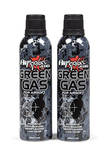 AirSplat 320ml HFC 22 Airsoft Green Gas x2 Dual Pack (Green Gas Pistol)