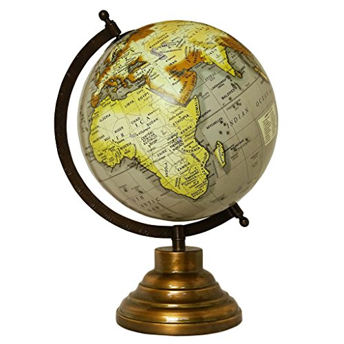 CRAFTSTRIBE Desktop Rotating Globe World Earth Globes Geography Table Décor Ocean 13