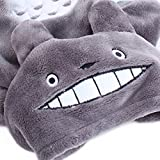 Gimilife Christmas Halloween Totoro Pet Change Appare Pet Autumn Winter Cartoon My Neighbor Totoro Coat Clothes Jumpsuit Funny Party Cosplay for Small Medium Large Dogs (Grey, L)