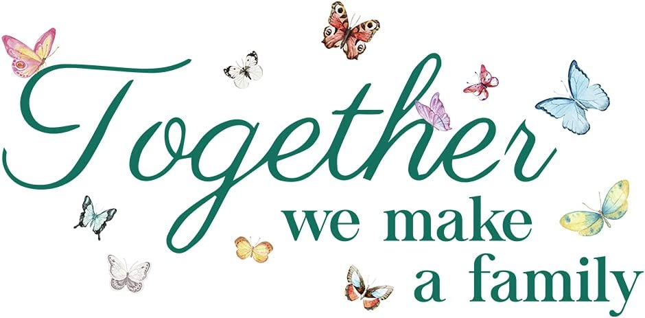 Together We Make a Family Wall Decal Vinyl Sticker, Removable Wall Decor for Living Room Bedroom Home Family Decor, Sweet Home Wall Art Saying Inspirational Wall Art Stickers (26.5''×13.6'')