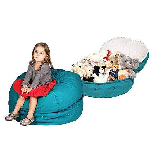 Storage Bean Bag Chair Color Aqua