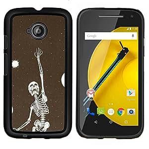 """Be-Star Único Patrón Plástico Duro Fundas Cover Cubre Hard Case Cover Para Motorola Moto E2 / E(2nd gen)( Esqueleto Bird Dreams Vignette metal"""" )"""