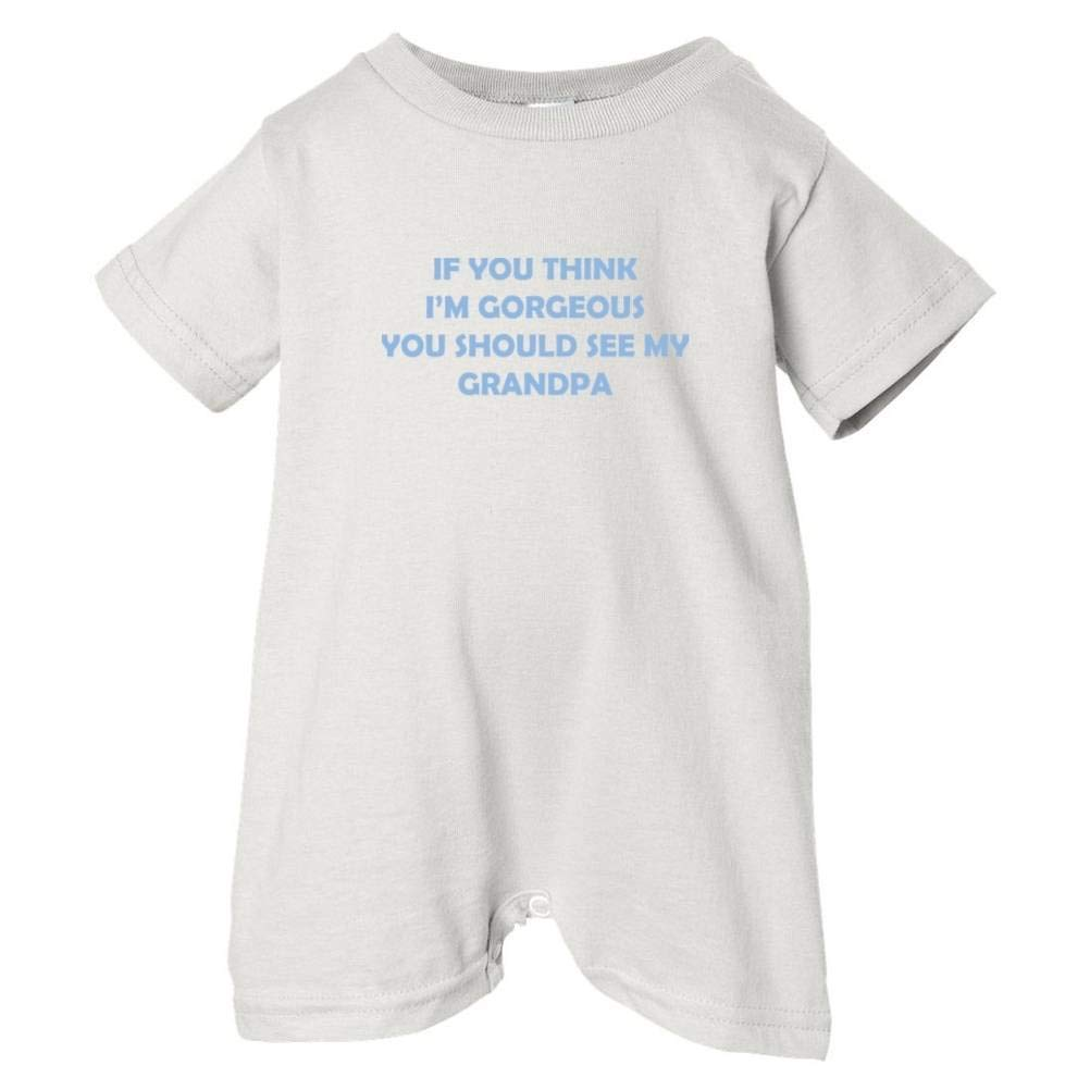 Unisex Baby Im Gorgeous See Grandpa T-Shirt Romper So Relative