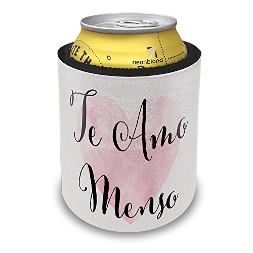 NEONBLOND Te Amo Menso Valentine's Day Fancy Heart Slap Can Cooler Insulator Sleeve