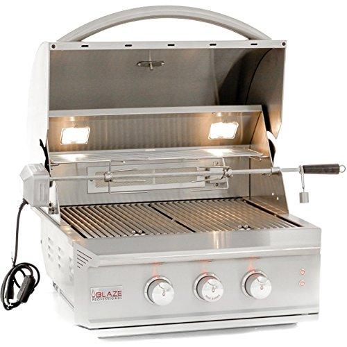 Blaze 27-inch Professional 2-Burner Grill Rear Infrared Burner (BLZ-2PRO-NG), Built-In, Natural Gas