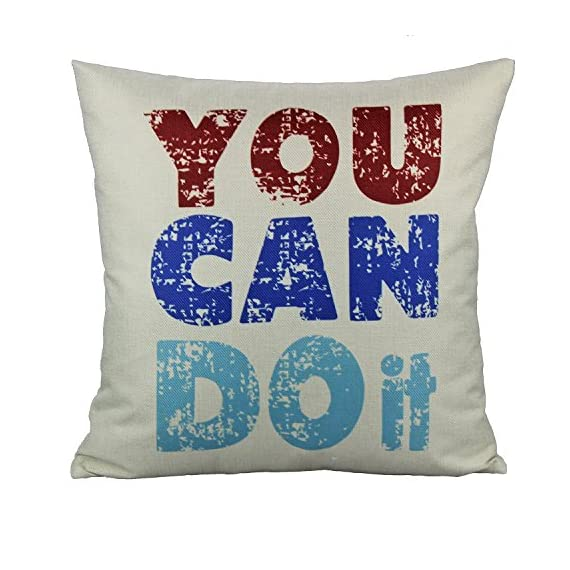 VAKADO Inspirational Quotes Saying Outdoor Throw Pillow Covers Colorful Decorative Words Letters Cushion Cases Home Decor for Couch Sofa Office 18x18 Inch Set of 4 - Pattern: Colorful Inspirational Sayings (You can do it, Live Simply Dream Big Be Grateful Give Love Laugh Lots, Do more of what makes you happy, Live Laugh Love);BEIGE Background. Size: 18x18 Inches (about 45x45 cm); Qty: 4pcs (only cover, no insert) Perfect encouraging gift for men, women, kids, teens, friends and so on; Perfect Decoration for Sofa, Couch, Bed, Bedroom, Living room, Patio, Office, Library, Car, Shop, Outdoor and so on. - patio, outdoor-throw-pillows, outdoor-decor - 51EBzmo2C6L. SS570  -