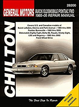 amazon com: chilton bonneville/eighty eight/lesabre 1986-1999 repair manual  (28200): automotive