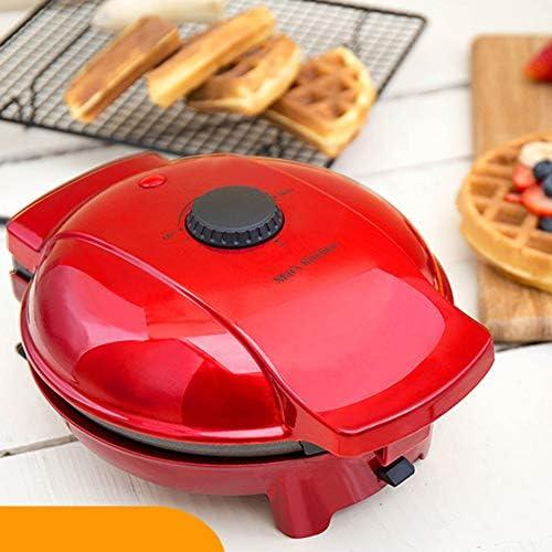 Gaufrier, 4-en-1 Sandwich Maker, Portable Home Multifonctionnel Acier Inoxydable Petit Pot Rouge Gâteau Machine, Température réglable, Facile à nettoyer, Revêtement antiadhésif