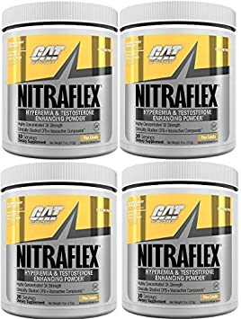 GAT Nitraflex Pre Workout 300gram, 30Sx4 PACKS Pina Colada