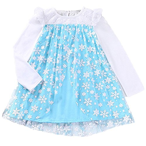 Elsa Anna Princess Dress for Toddler Girls Long -