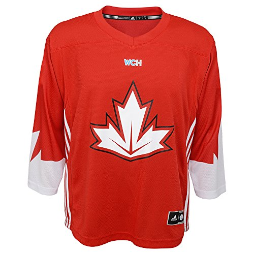 Adidas Team Canada World Cup Of Hockey Red Jersey Kids Size (Team Canada Jersey)