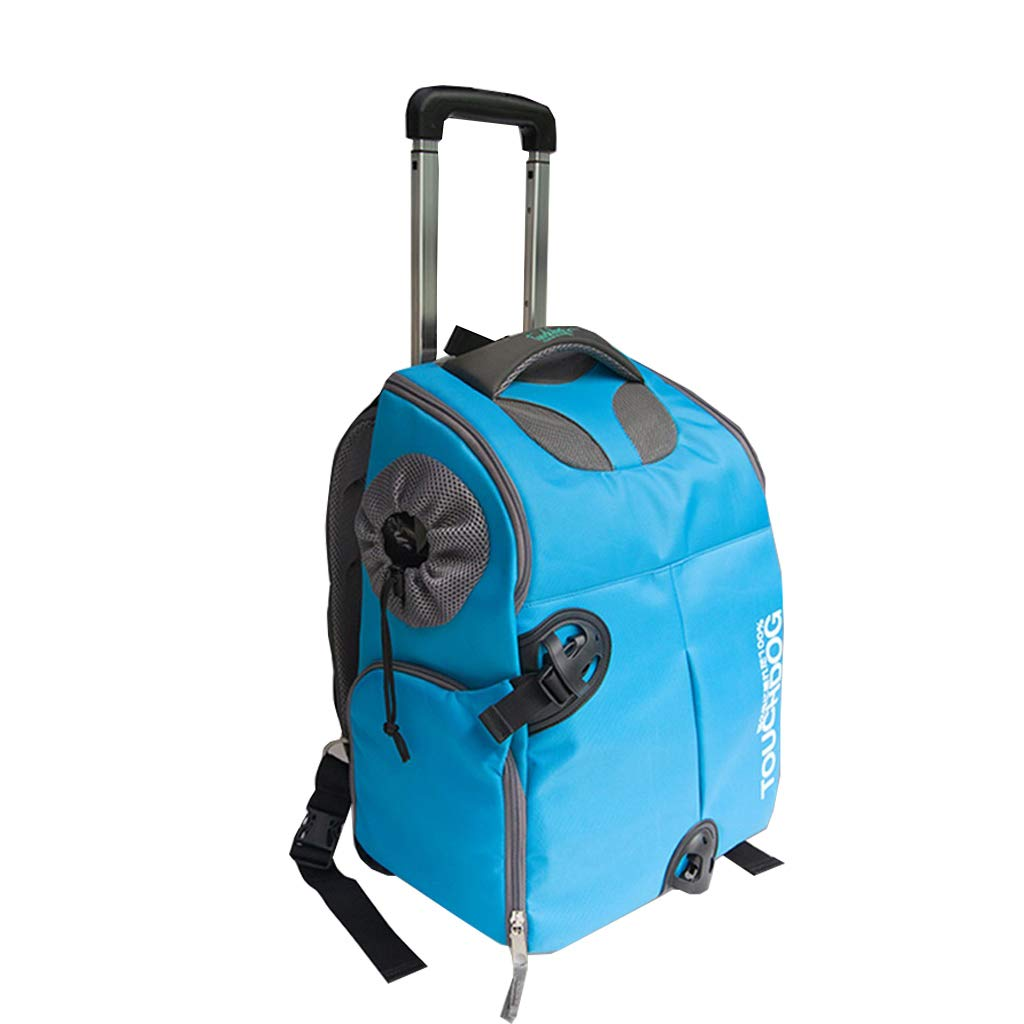 Pet Carrier Astronaut Pets Trolley Carrier Case Folding Pet Carrier Backpack Luxury Travel Pet Bag Strollers (Pets up to 17 Pounds) bluee Backpack Capsule Breathable