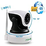 Security Cameras Wifi IP Camera Wireless Surveillance Cameras Dog/ Baby Monitor Video Cam Night Vision plug/play Pan/Tilt with Two-Way Audio 1+3M(Total 13 Feet) Power Cable Extension Cable Nettoly