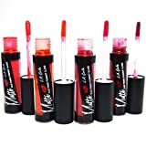 L.A. GIRL 4 PCS LIP GLOSS MATTE FLAT FINISH PIGMENT PAINT SUPER INTENSE COLOR + 1 PC Free LA GIRL PRO CONCEAL HD CONCEALER