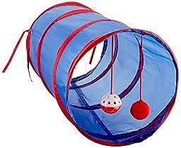Kole KI-OD476 Cat Tunnel with Dangle Toys, One Size