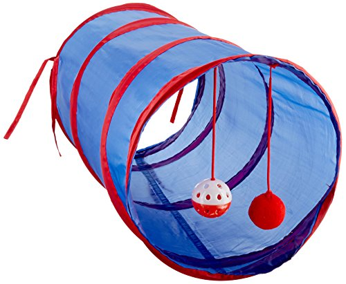 Kole KI-OD476 Cat Tunnel with Dangle Toys, One Size