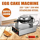 OrangeA Eggettes Bubble Puffle Waffle Maker 1400W Electric Stainless Steel Non Stick Pan Egg Puff Grill Machine 110V
