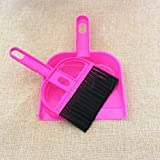 handy broom - Mini Dustpan Brush Desk Plastic Cleaning Sweeper Broom Set Handy Cleaner Whisk for Pets Home Appliance Random Color