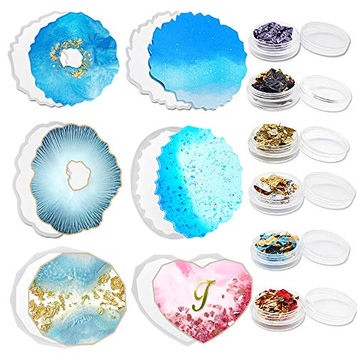 Resin Geode Coaster Mold