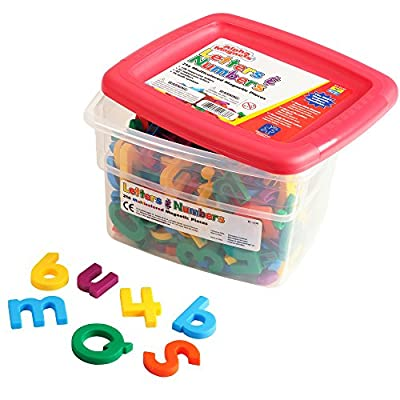 Educational Insights Multicolored AlphaMagnets and MathMagnets, 214 Pieces: Office Products