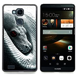 Snake With Red Eye Caja protectora de pl??stico duro Dise?¡Àado King Case For HUAWEI Ascend Mate 7