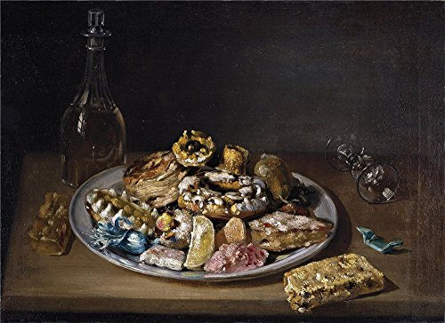 (Polyster Canvas ,the Imitations Art DecorativeCanvas Prints Of Oil Painting 'Parra Miguel Plato De Dulces Primera Mitad Del 19 Century ', 12 X 17 Inch / 30 X 42 Cm Is Best For Dining Room Decor And Home Gallery Art And Gifts)