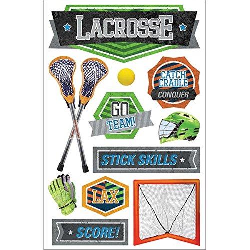 Paper House Productions STDM-205E 3D Stickers, Lacrosse