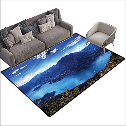 - Kids Bedroom Mats Decorative Nature,Lake Como Paradise Landscape 60
