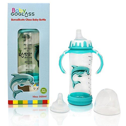 Top Rated - GoGlass Borosilicate 10 oz Glass Baby Bottle