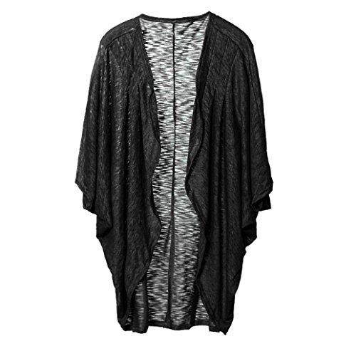 XUANOU Womens Simple Style Casual Knit Sleeve Sweater Coat Cardigan Jacket(Medium, (Embellished Medium Sleeve)