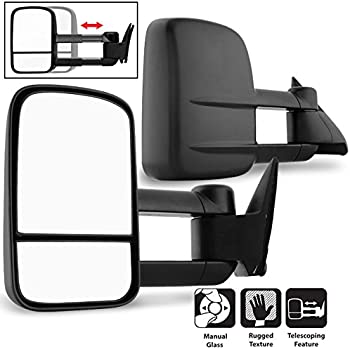 1 Pair Maxiii Towing Mirrors Compatible for 1988-1998 Chevy GMC C//K 1500 2500 3500 OBS Truck Manual Extendable Folding Side Tow Mirrors for Trailer Pickup