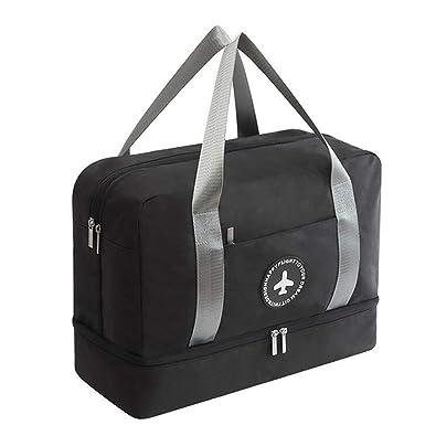 Amazon.com: Bolsa de gimnasio impermeable con compartimento ...
