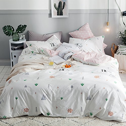 - TheFit Paisley Textile Bedding for Teenagers W1054 Mountain Collection Duvet Cover Set 100% Cotton, Queen Set, 4 Pieces