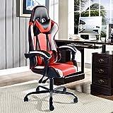 Aingoo Gaming Computer Chair Red White High Back Ergonomic Racing Chair Swivel Chair Headrest Lumbar Support Video Game Armchair
