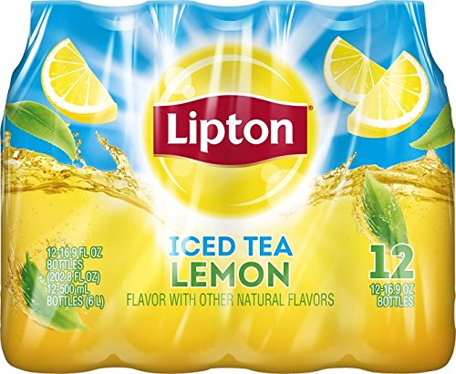 Lemon Ice Tea - Lipton Iced Tea, Lemon (12 Count, 16.9 Fl Oz Each)