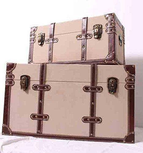 Koffer / Dekokoffer / Dekokiste Set 2 teilig / Kisten / Retro Transportkoffer / Überseetruhe / Couchtisch / 2 Größen / M / Spielzeugtruhe / Vintage Wooden Tool box